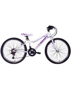 """Tiger Angel 24"""" Girls Mountain Bike - White"""