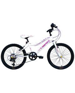 "Tiger Angel Girls Mountain Bike - 20"" Wheel White/Purple"