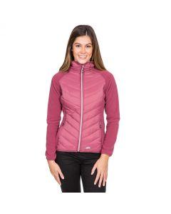 Trespass Boardwalk Women's Quilted Hooded Jacket - Dark Rose