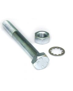 M10 x 100 Bolt with Nut and Shakeproof Washer - Pair