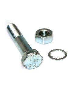 M10 x 80 Bolt with Nut and Shakeproof Washer - Pair
