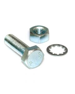 M12 x 50 Bolt with Nut and Shakeproof Washer - Pair