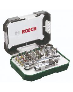 Bosch 26-Piece Screwdriver & Socket Mini Ratchet Tool Set