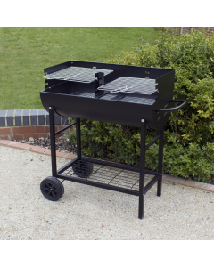 Half Drum Steel Barbecue