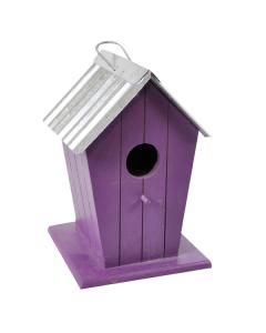Wooden Beach Hut Style Bird House Nesting Box