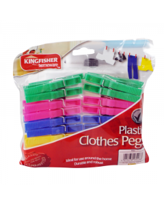 Kingfisher Clothes Pegs - Plastic 40 Pack