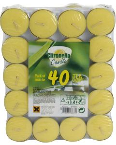 Citronella Tealights - Pack of 40