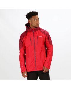 Regatta Men's Calderdale III Lightweight Waterproof Jacket - Red