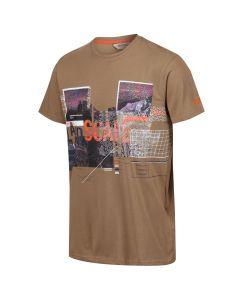 Regatta Men's Cline III Graphic Print Crew Neck T-Shirt - Dark Camel