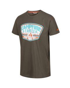 Regatta Men's Cline III Graphic Print Crew Neck T-Shirt - Grape Leaf