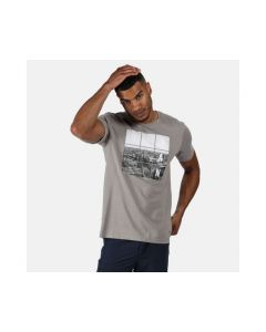 Regatta Cline IV Men's Graphic T-Shirt - Rock Grey Urban Print