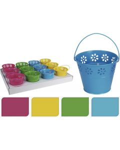 Citronella Candle In Bucket - Assorted Colours