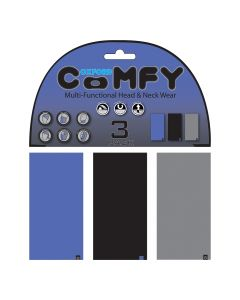 Oxford Comfy Buff Scarf Face Mask 3-Pack - Blue/Black/Grey