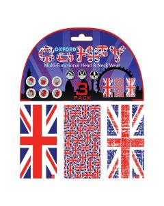 Oxford Comfy Buff Scarf Face Mask 3-Pack - HD Union Jack