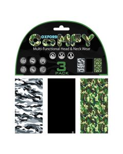Oxford Comfy Buff Scarf Face Mask 3-Pack - Camo
