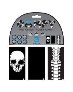 Oxford Comfy Buffs - Skeleton Designs (3-Pack)