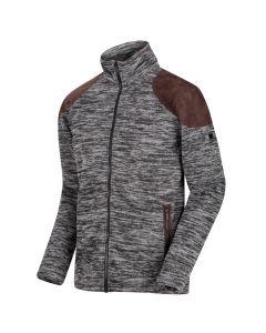 Regatta Men's Cranston Overlay Jaquard Full Zip Fleece - Black