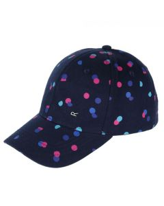 Regatta Kids' Cuyler Baseball Cap II - Navy Polka Dot