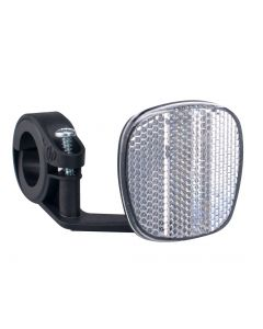 Cycle Front Reflector with Multi-Size Bracket (White)