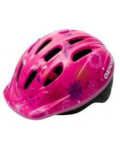 Oxford Poppet Junior Girls Cycle Helmet - Pink Flower