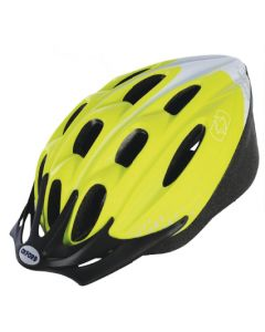 Oxford Cycle Helmet F15 Yellow/White 53-57cm