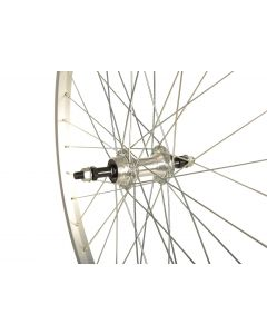 26 x 1.75 Alloy MTB Wheel - REAR (Solid Nutted, Screw-On)