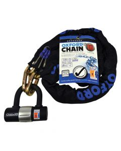Oxford Chain 10 Hardened Chain Lock - Sold Secure Gold