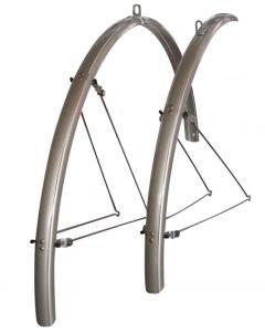 "Oxford 700C / 21"" Road Bike Full Mudguards - Silver"