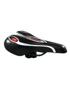Tiger MTB Sport Saddle - Black/Red