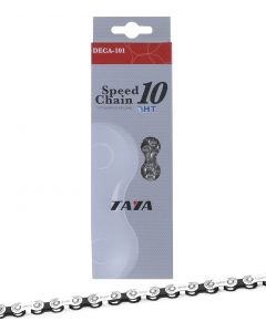 "Taya DECA-101 10 Speed Chain 1/2"" x 5/64"" - Silver/Black"