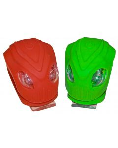 Oxford Brighteye Alien LED Cycle Lights - Red / Green