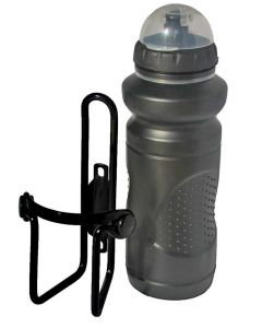 Tiger cycle water bottle with alloy cage