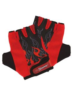 Kidzamo Childrens Cycling Gloves - Red Flame