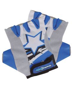 Kidzamo Childrens Cycling Gloves - Blue Stars
