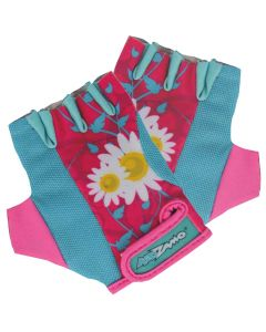Kidzamo Childrens Cycling Gloves - Pink Daisy