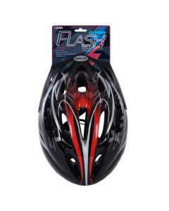 Oxford Flash Black/Red Junior Cycle Helmet