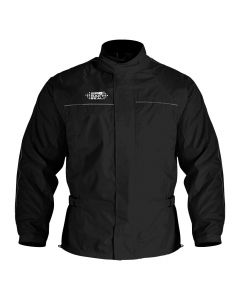 Oxford Rainseal Packaway Lined Waterproof Jacket - Black