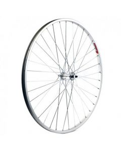 Front 700C Hybrid Alloy Bike Wheel - Single Wall Nutted Spindle