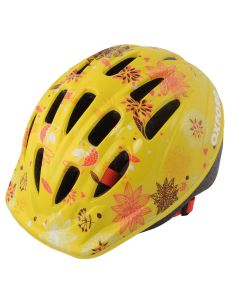 Oxford Poppet Junior Girls Cycle Helmet - Yellow Flower