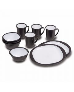 Kampa 12 Piece Dinner Plate Charcoal