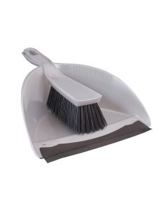 Household Dust Pan And Brush Set - Stiff Bristle