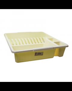 Heavy Duty Large Cream Plastic Dish Drainer