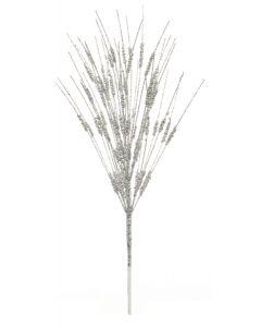 Premier Silver Beaded Glitter Stem 43cm