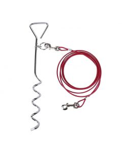 Dog Tie-out Stake and Cable