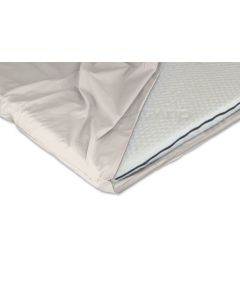 Duvalay Topper Percale Zipped Cover - Cream 2.5cm