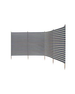 Deluxe 5 Pole Windbreak With Awning Channel Fixing - Blue