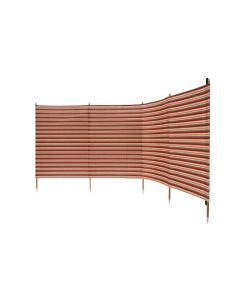 Deluxe 5 Pole Windbreak With Awning Channel Fixing Red