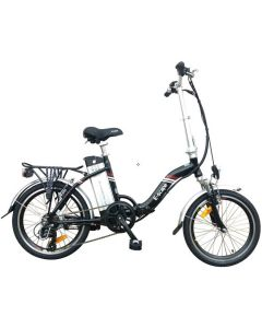 E-Scape Folding Low Step-Through Electric Bike - Black