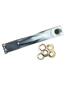 Eyelet Kit With 12 Metal Eyelets And Fitting Tool