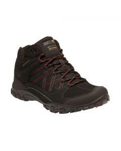 Regatta Men's Edgepoint Mid Waterproof Walking Boots - Black Classic Red